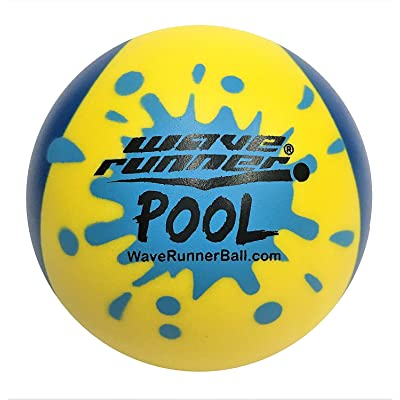 Wave Runner Pool Ball #1 Water Ball for Skipping and Bouncing The Perfect Pool Ball and Beach Ball (Random Color): Toys & Games