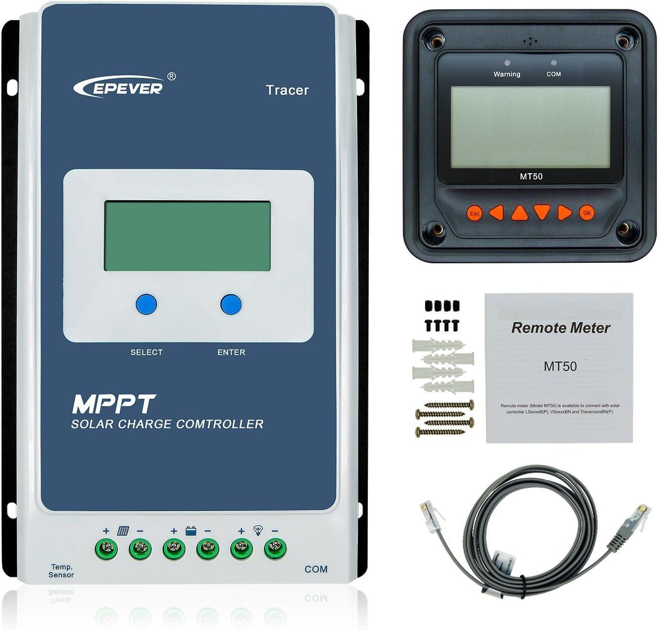 Remote Meter//Ecran MT50 à Distance pour 10-100A MPPT Solar Charge Contrôleurs