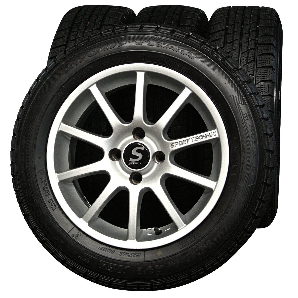 15インチ 4本セット スタッドレスタイヤ&ホイール グッドイヤー(GOODYEAR) ICENAVI ZEA2 185/65R15 スポーツテクニック B01E16E51S