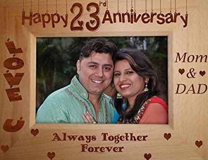 Buy Tied Ribbons 23rd Wedding Anniversary Gift Parents Photo Frame