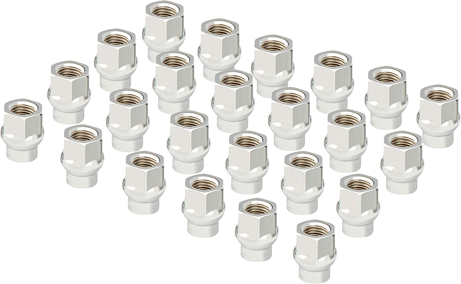 Open End Style Conical Lug Nut Aluminum Aftermarket Wheels with Hub Caps Pack of 24 Proper Mount hub for Toyota When Install Wheel Spacers 12x1.5 ET Lug Nuts