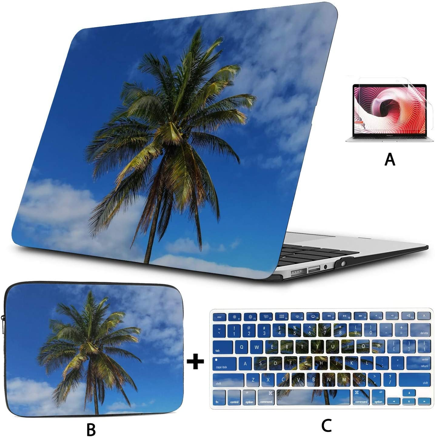 Cover MacBook Air 13 Palm Tropical Beach Island Paradise Vacation Laptop Protector Case Hard Shell Mac Air 11