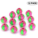 (12 Packs) Pet Hair Remover for Laundry-Reusable Laundry Drying Ball to Remove Pet-Applied Hair On Clothes.