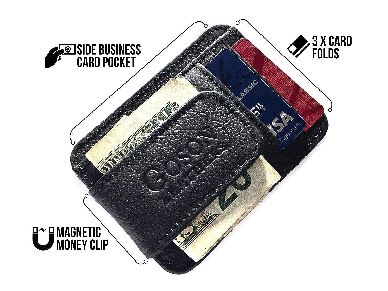 c826dcf6485c Goson Slim Wallet Leather Money Clip Wallet For Men - Front Pocket Wallet