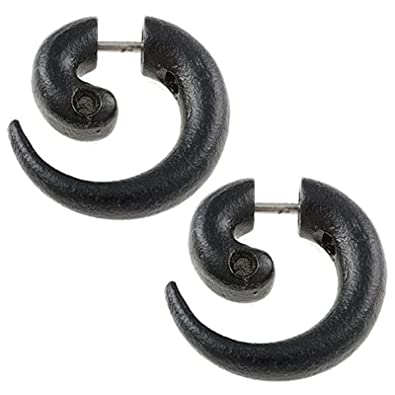 Amazoncom Men Plug Small Ear Gauge Cool 16g 16 Gauge Size Black