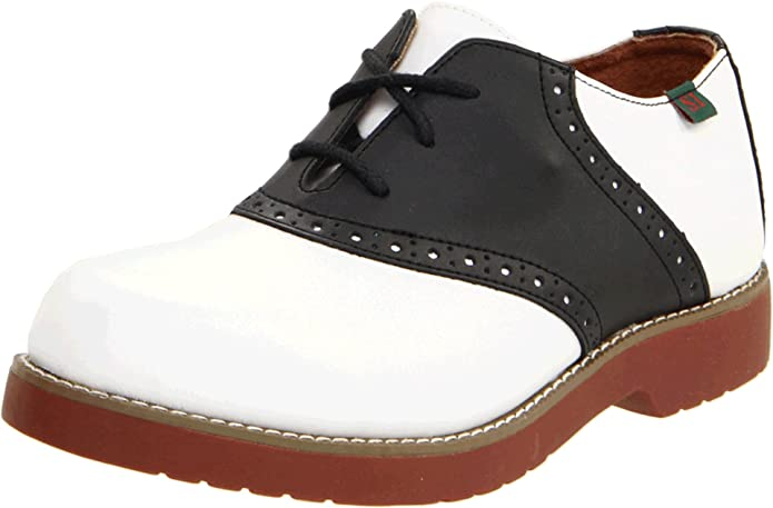 Saddle Shoes: Black & White Saddle Oxford Shoes Varsity Saddle Shoes School Issue $62.95 AT vintagedancer.com