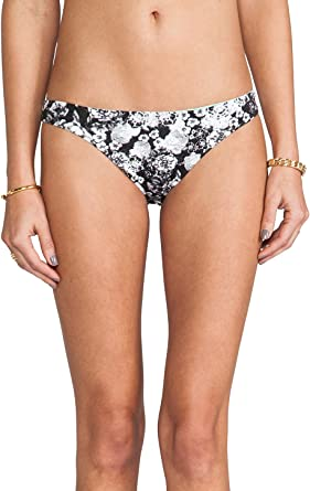 ZINKE Women/'s Black//White Floral Emmi Reversible Bikini Bottoms $61 NEW