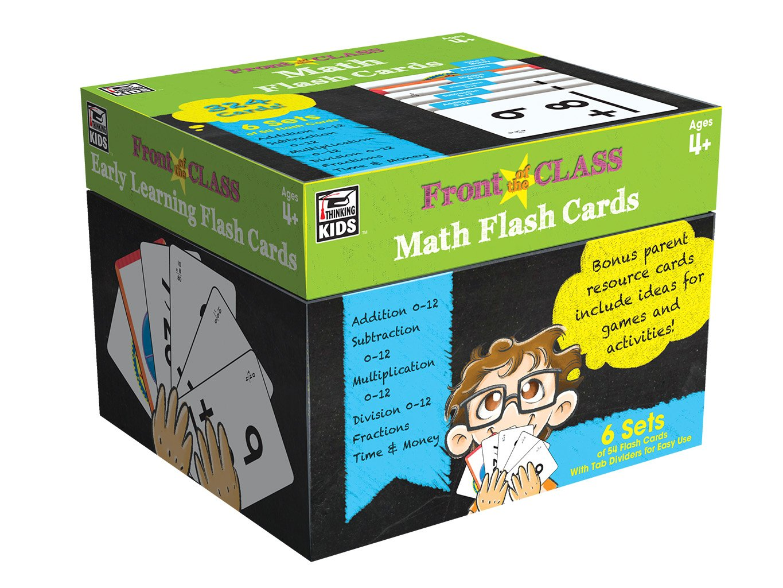 Amazon.com: Grades PK - 3 Math Flash Cards: Thinking Kids, Carson ...