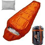 HiHiker Mummy Bag + Travel Pillow w/Compact Compression Sack – 4 Season Sleeping Bag for Adults & Kids – Lightweight…