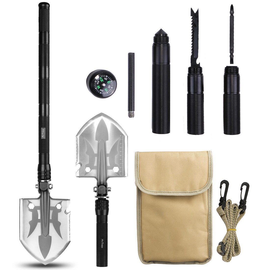 Schaufeln Camping & Outdoor Tactical  Schaufel mit Tasche Outdoor Schaufel Paracord Spaten Neu