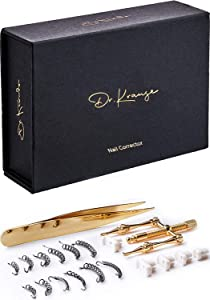 Dr. Krause Ingrown Toenail Treatment Kit 20Pcs/set - Stainless Steel Pedicure Tools for Nail Correction, Softening and Easy Trimming - Nail Corrector, Tweezers, 6x Headers, 12x Nail Retainers