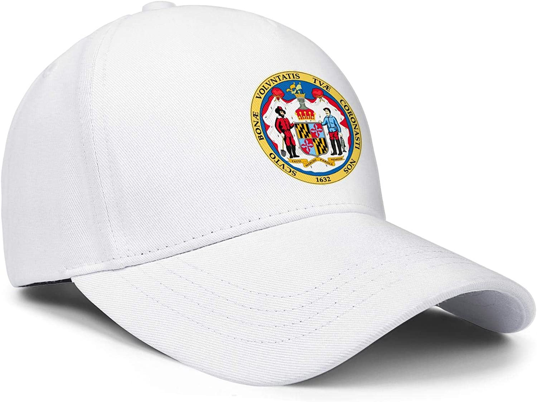 Distressed Mens Baseball Caps Maryland Stick Lacrosse Street Sign Snapback Hat for Men Adjustable Fits Dad Hat for Women