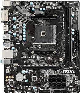 MSI A320M-A Pro AMD A320 AM4 Micro ATX DDR4-SDRAM Motherboard