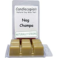 Candlecopia Nag Champa Strongly Scented Hand Poured Vegan Wax Melts, 12 Scented Wax Cubes, 6.4 Ounces in 2 x 6-Packs