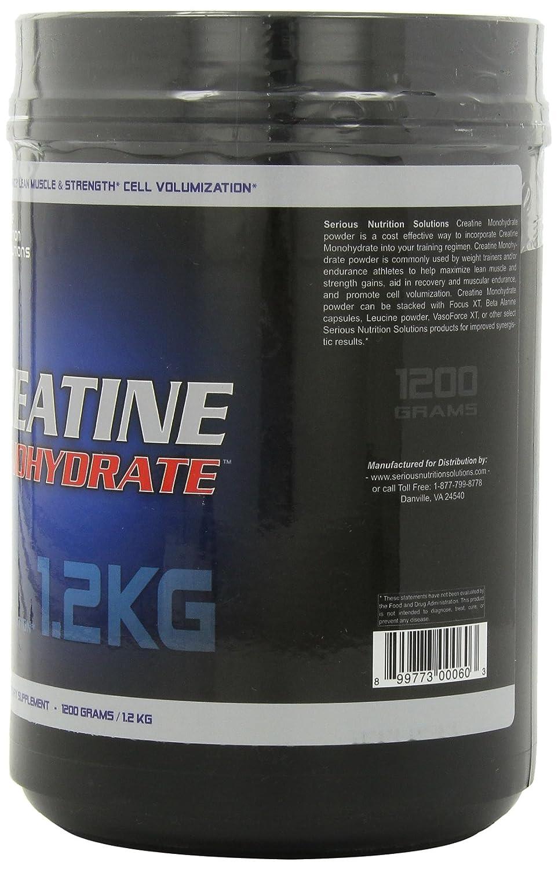 Serious Nutrition Solution Creatine Monohydrate Powder, 1200 Grams