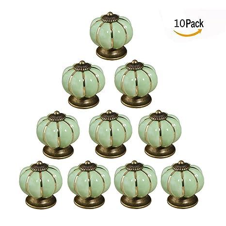 Itian 10 Pezzi Pomello in Ceramica da Cucina Porta Manopole del ...