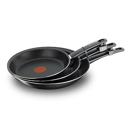 Tefal First Cook sartenes Negro Gas, Aluminio, Negro, 18/22/26