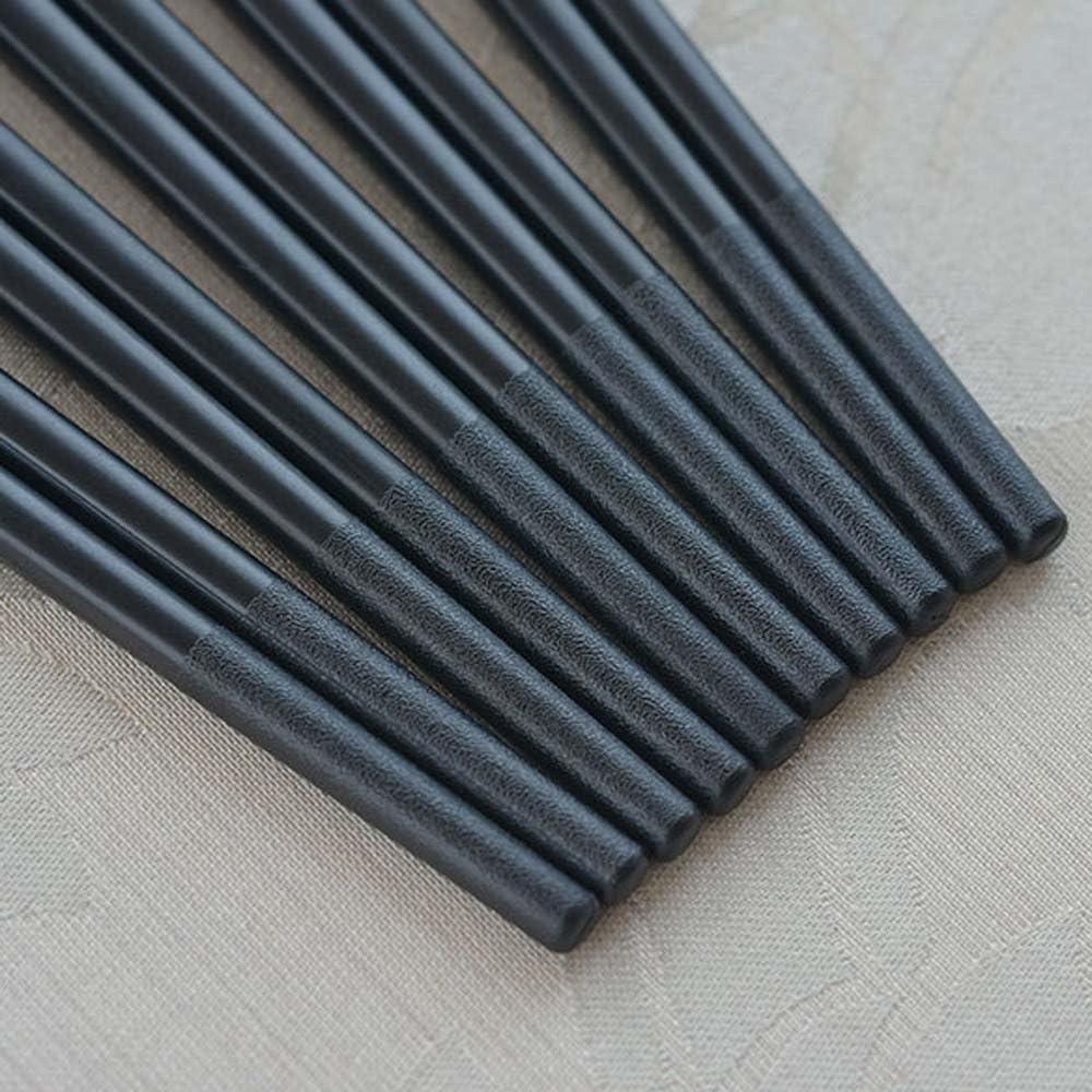 palillos de aleaci/ón de acero inoxidable hj01 KALAIXING marca 5 pares Hermoso patr/ón de aleaci/ón de acero inoxidable palillos estilo chino