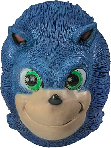 Xcostume Máscara de Sonic de látex, Color Azul, Cabeza Completa ...