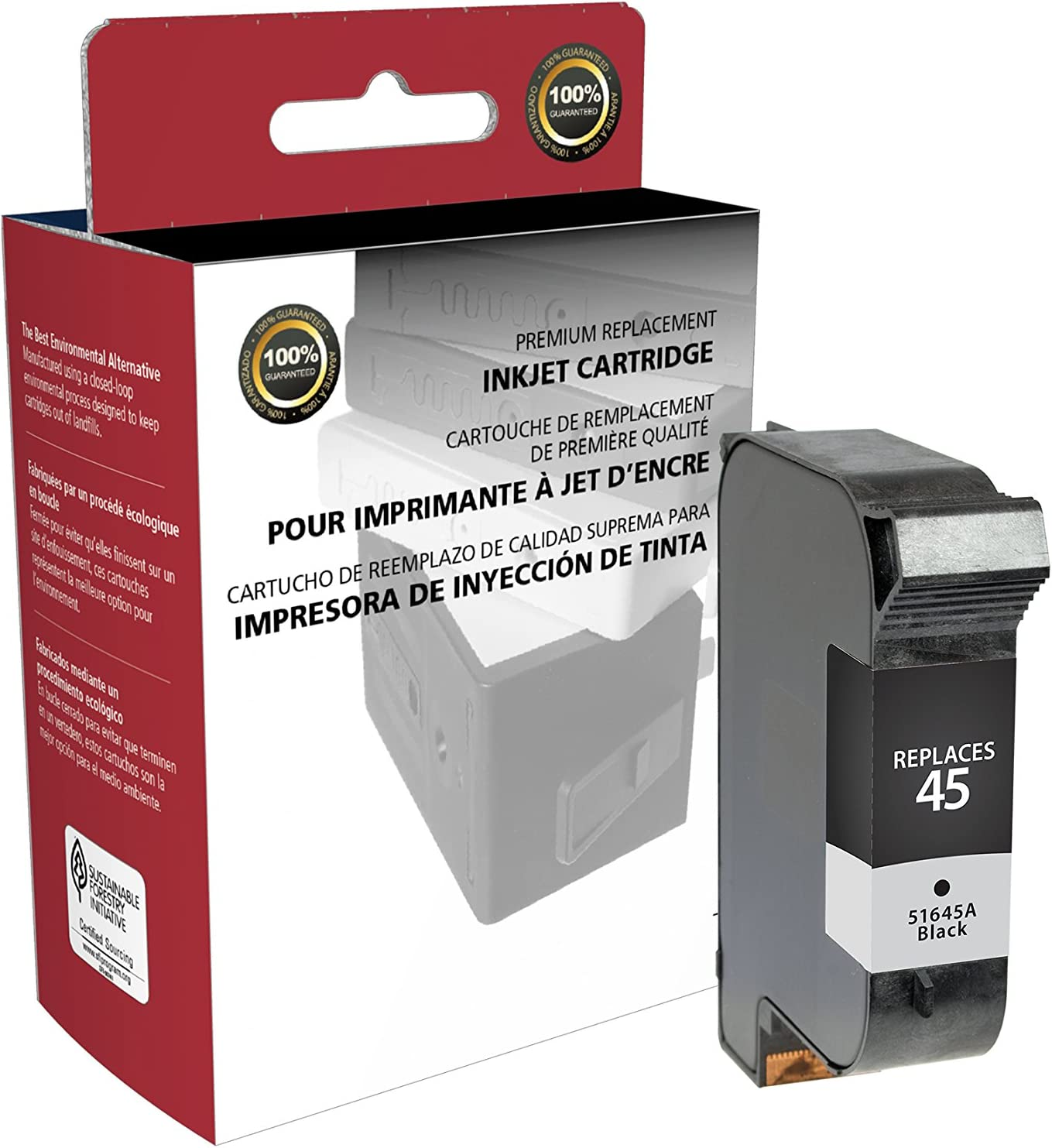Inksters New Build Ink Cartridge Replacement for HP 45 51645A (HP 45) - Black