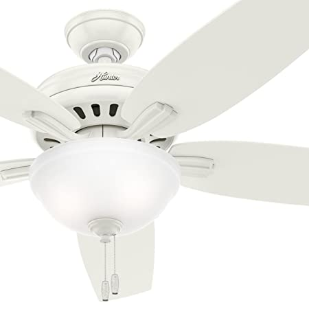Hunter Fan 56 inch Casual Ceiling Fan With Bowl Light Kit – Fresh White Renewed