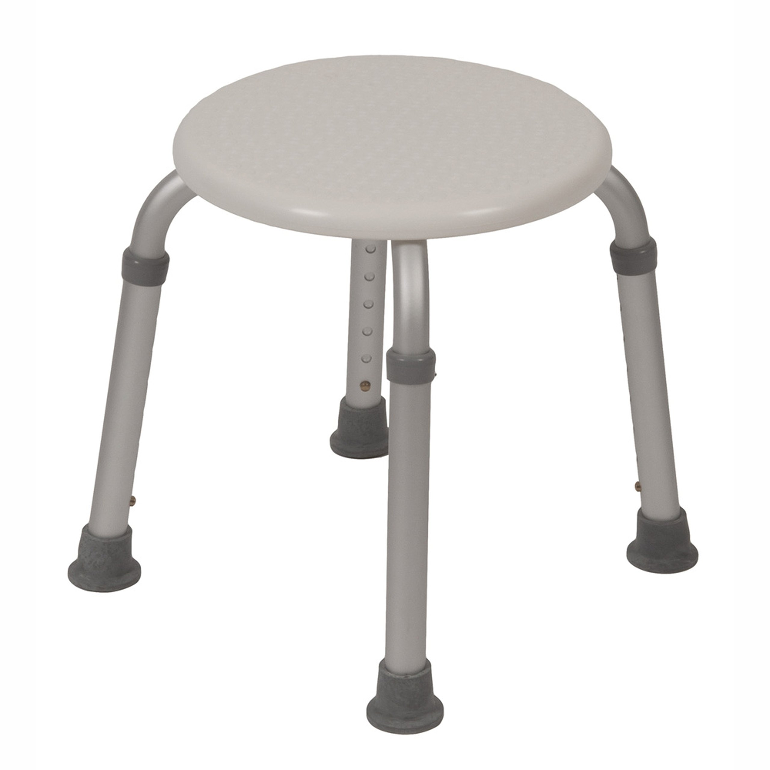 PCP Round Shower Stool Mobility Bath Aid Seat, White