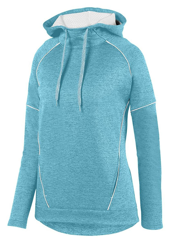 Augusta Sportswear SWEATER レディース B076X36LHL  アクア/ホワイト 3L
