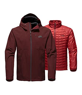 0b180bdbf2 The North Face Men s Thermoball Triclimate Jacket Sequoia Red Heather ...