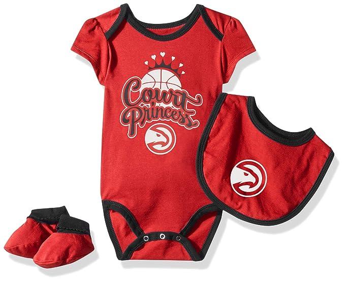 fa2640156d4 Outerstuff NBA NBA Newborn & Infant Atlanta Hawks Mini Trifecta Bodysuit,  Bib & Bootie Set