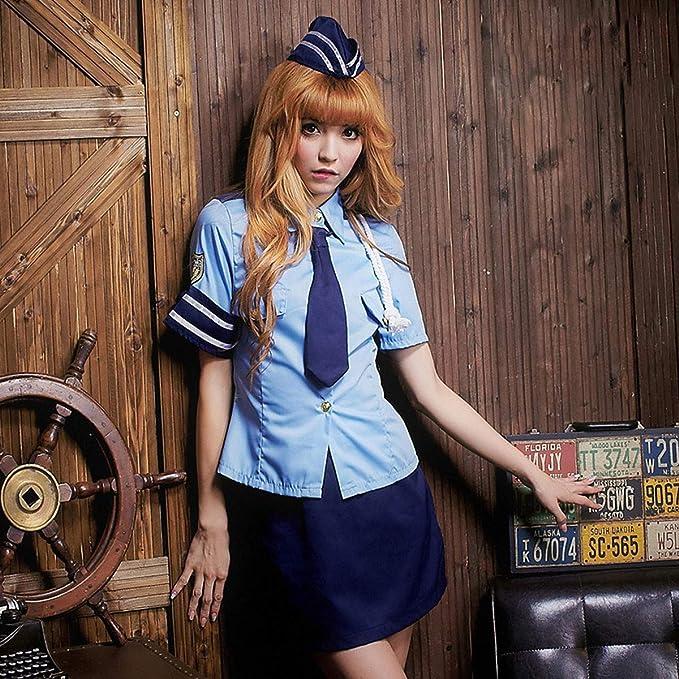 Uniforme de Las niñas, Anime Cosplay Anime, Disfraz de policía Cosplay Disfraz de Halloween, Juego de rol Uniforme de Fiesta: Amazon.es: Hogar