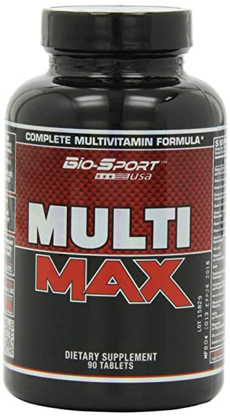 Bio-Sport USA Multi Max, Sports Nutrition Multivitamin for Men with Maca, Boron
