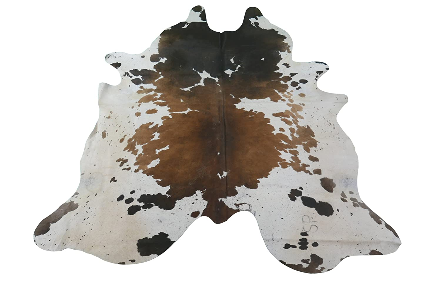 69473effe12 Amazon.com  Longhorn Cowhide Rug Huge Size  8 X 7 ft Brown   White Cowhide  Rug E-921  Kitchen   Dining