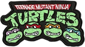 "Teenage Mutant Ninja Turtles Iron-on Patch (3.5"" / 9cm) Embroidered TMNT Logo Cartoon Badge"