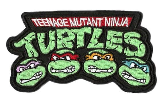TMNT parche con Logo bordado hierro-en placa 9 cm Teenage ...