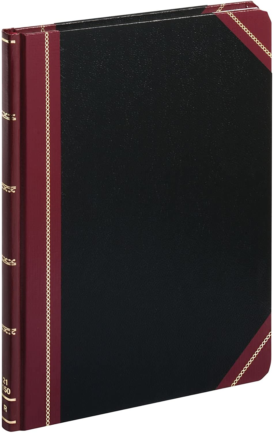 Boorum & Pease 21150R Columnar Accounting Book, Record Rule, Black Cover, 150 Pages, 8 1/8 x 10 3/8