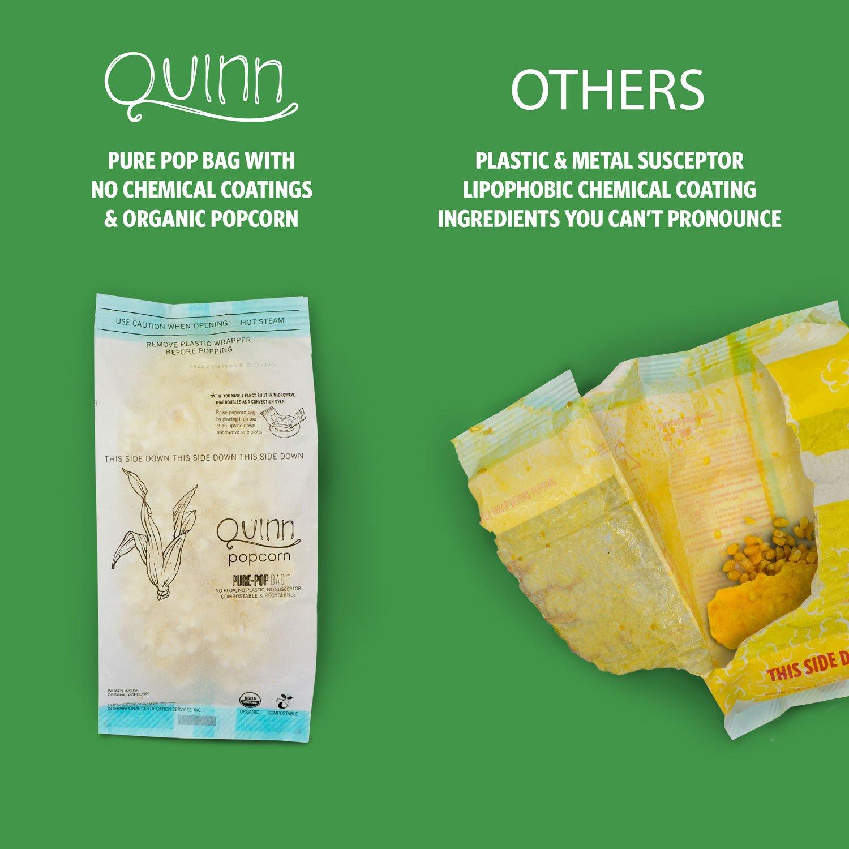 Quinn Snacks - Pack de 3 palomitas de microondas ...