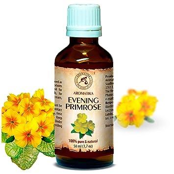 Aceite de Onagra Vespertina 50ml - Oenothera Biennis - Evening Primrose Oil - Botella de Vidrio