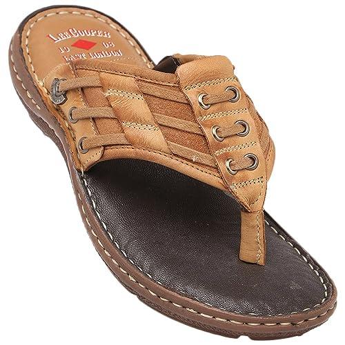 7b3f68213a4 Lee Cooper Men s Leather Hawaii Thong Sandals-9 UK India (43EU ...