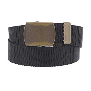 Boys 1 Inch Scouting Uniform Belt with Flip Top Buckle and Adjustable Navy Web Belt Small