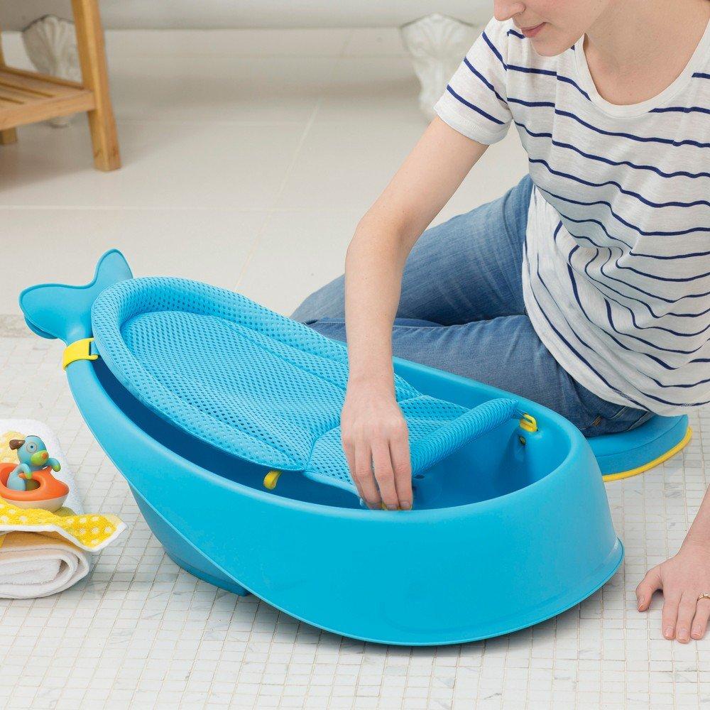 Amazon.com : Skip Hop Moby Baby Bath Tub 3 In 1 Smart Sling, Blue : Baby