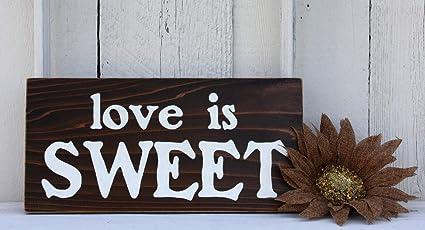 Amazon.com: Ohuu - Cartel de madera rústica con texto en ...