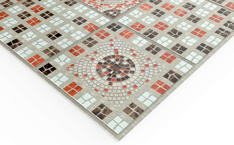 Decorazione Pannelli Mosaico Selezione Parete Piastra PVC Stabile Regul 56557