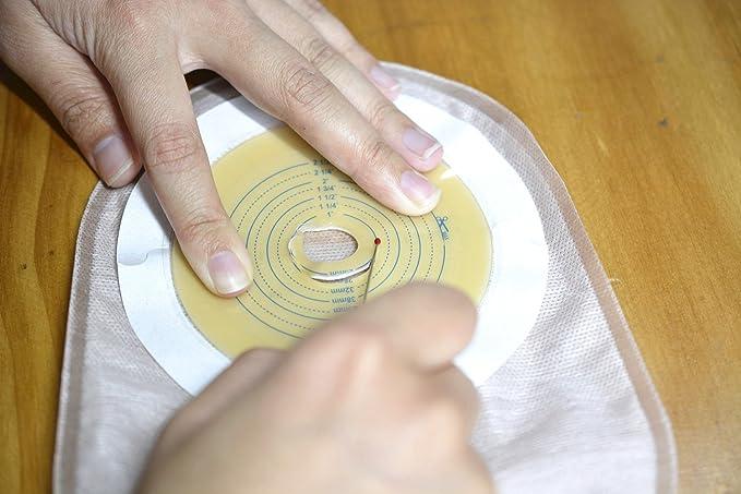 ouchan ostomía bolsas bolsas de drenaje drainable bolsa con tarjeta de medida, abrazadera para colostomía ileostomy estoma atención, cut-to-fit, ...