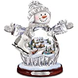 "Thomas Kinkade ""Winter Wonderland"" Crystal Snow Girl Figurine: Lights Up! by The Bradford Exchange"