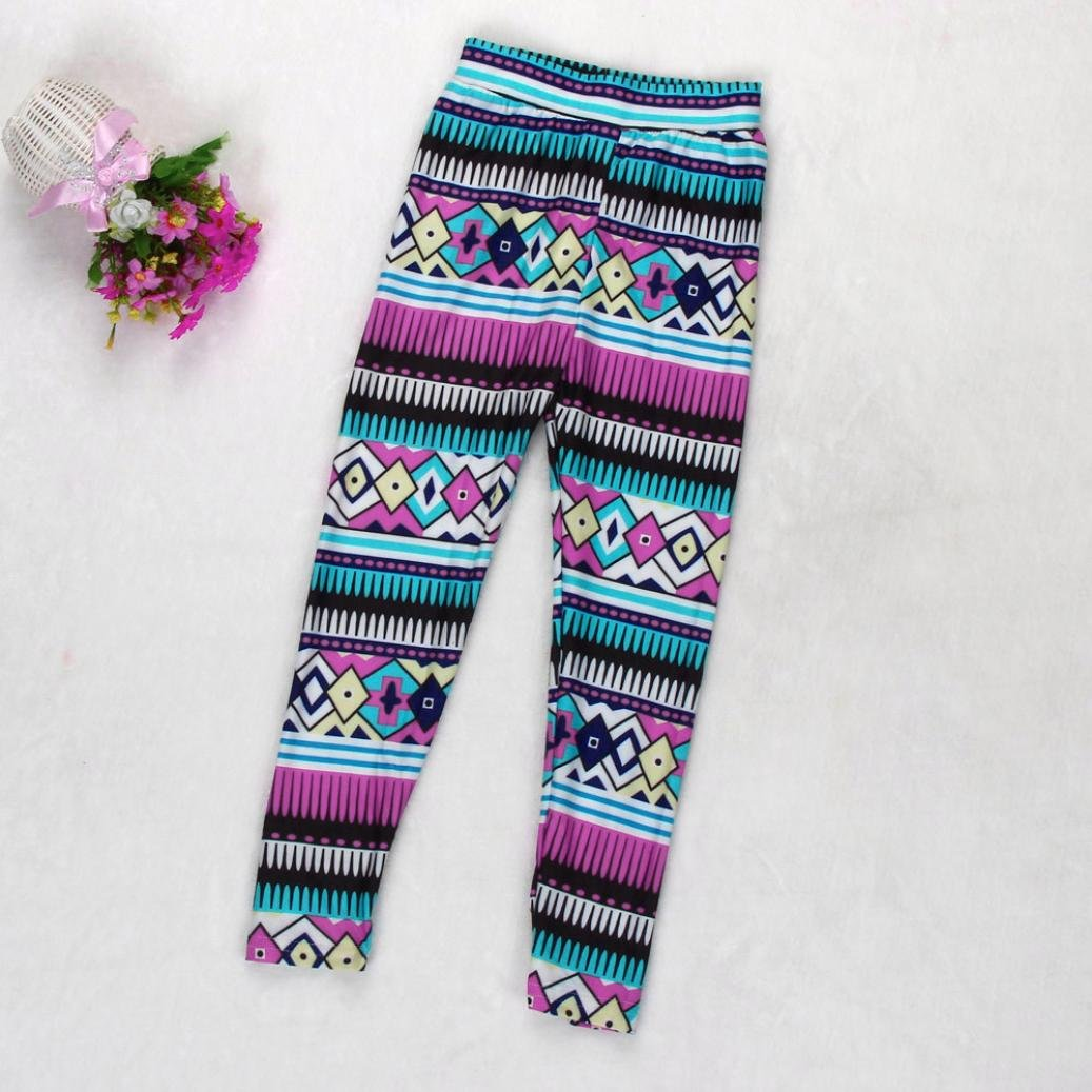 AOJIAN Daughter Tribal Geometric Tight Leggings Trousers Family Clothes Girl Pants