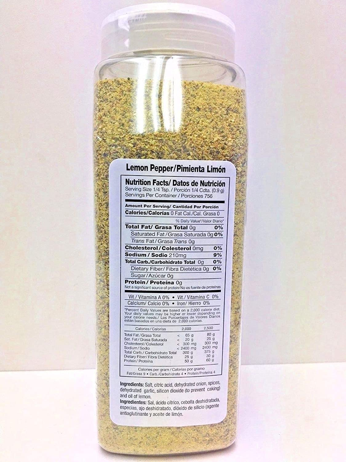 Amazon.com : 1.5 lbs-Lemon Pepper Seasoning/Sazon Pimienta Limon Gluten Free Kosher : Grocery & Gourmet Food