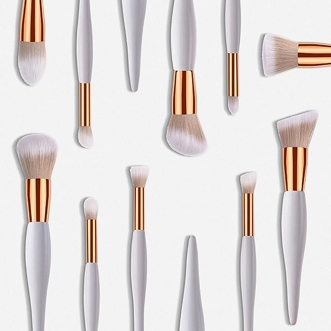 Daysing - Juego de 10 pinceles de maquillaje profesionales, pinceles de maquillaje para sombra de ojos y mejillas, brochas de maquillaje: Amazon.es: Belleza