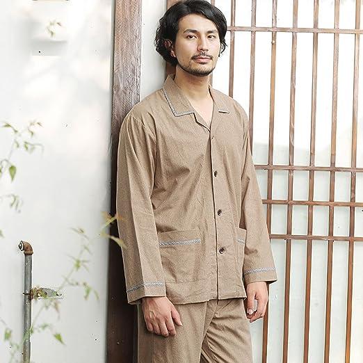 Xi Man Shop Traje Pijama de algodón para Hombres Ropa de ...