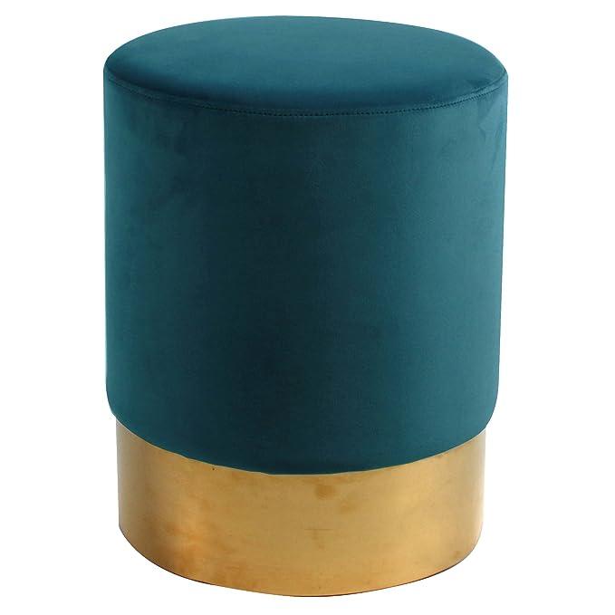 Fabulous Amazon Com New Pacific Direct Oliver Fabric Round Ottoman Inzonedesignstudio Interior Chair Design Inzonedesignstudiocom