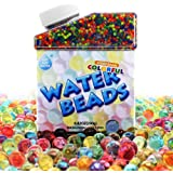 Water Beads 50000 Icy Soft Water Gel Orbeez Beads Pearls Growing Jelly Balls Splendid Colors for Water beads Pool Kids Tactile Sensory Toys Plants Vases Party and Home Decoration